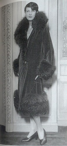 1920s wolf trimmed coat