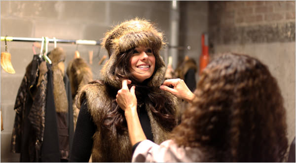 New York Times: Xiomara del Carmen helped Ana Lodriguss prepare for a nutria fashion show in New Orlean