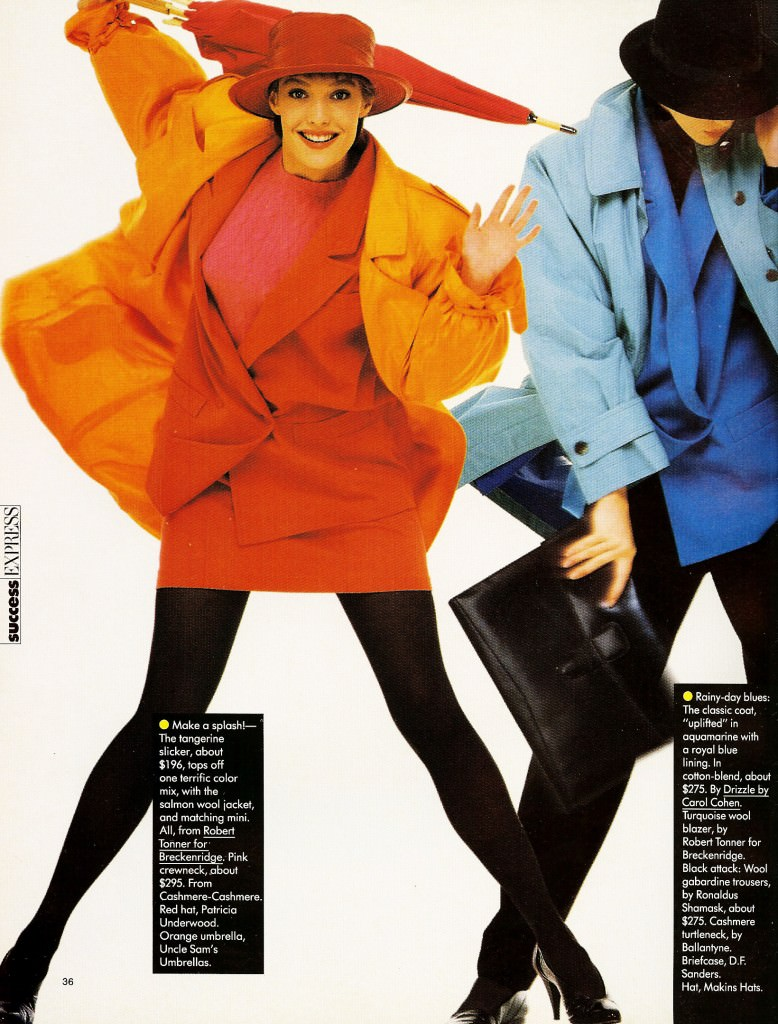 1980s fashion style: