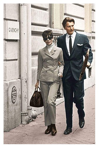 Audrey Hepburn with Hubert de Givenchy