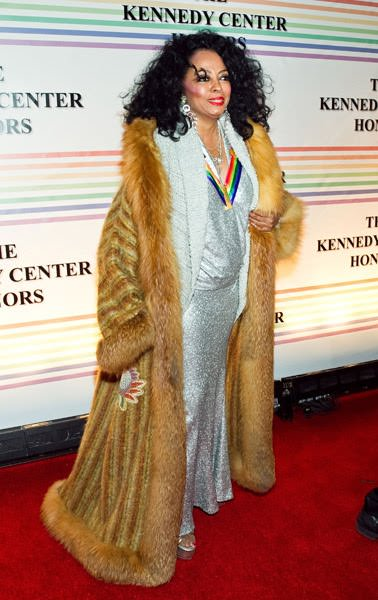 Diana Ross at her Kennedy Center honors celebration in 2010