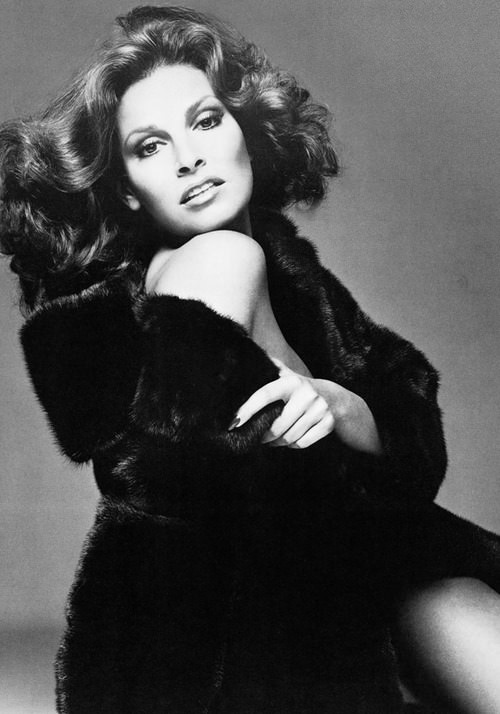 Raquel Welch in BLACKGLAMA campaign from 1975