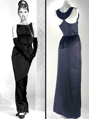 The famous 'Breakfast at Tiffany's' gown created by Hubert de Givenchy