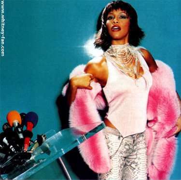 Whitney was daring in her fur choices and loved color