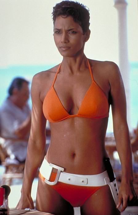 "Actress Halle Berry,as JINX, is shown in a scene from the 2002 James Bond series film ""Die Another Day"""