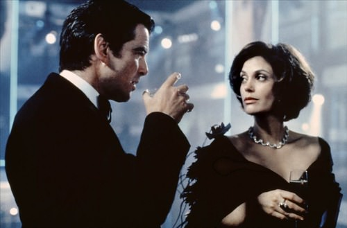 Teri Hatcher, as Paris Carver, in Tomorrow Never Dies