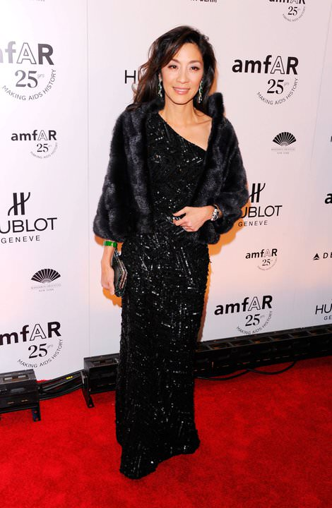 Michelle Yeoh dressed in fur