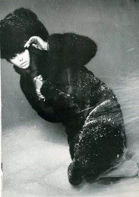 Barbara Bach was clad in fur in an earlier promo ad