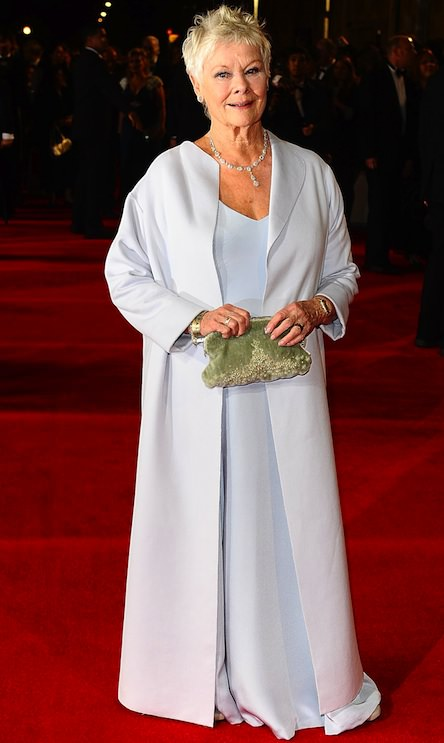 Dame Judi Dench, who also stars in the Bond flick, was stunning at the premiere