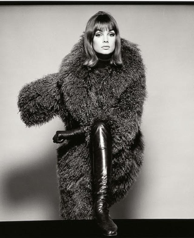 A photo of Jean Shrimpton taken by David Bailey in 1964