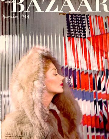 Lisa Fonssagrives' 1944 Harper's Bazaar cover