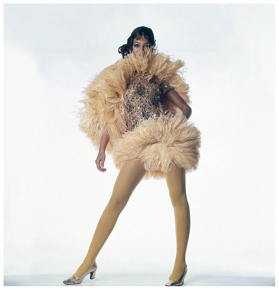 Marisa Berenson in a U.S. Vogue feature