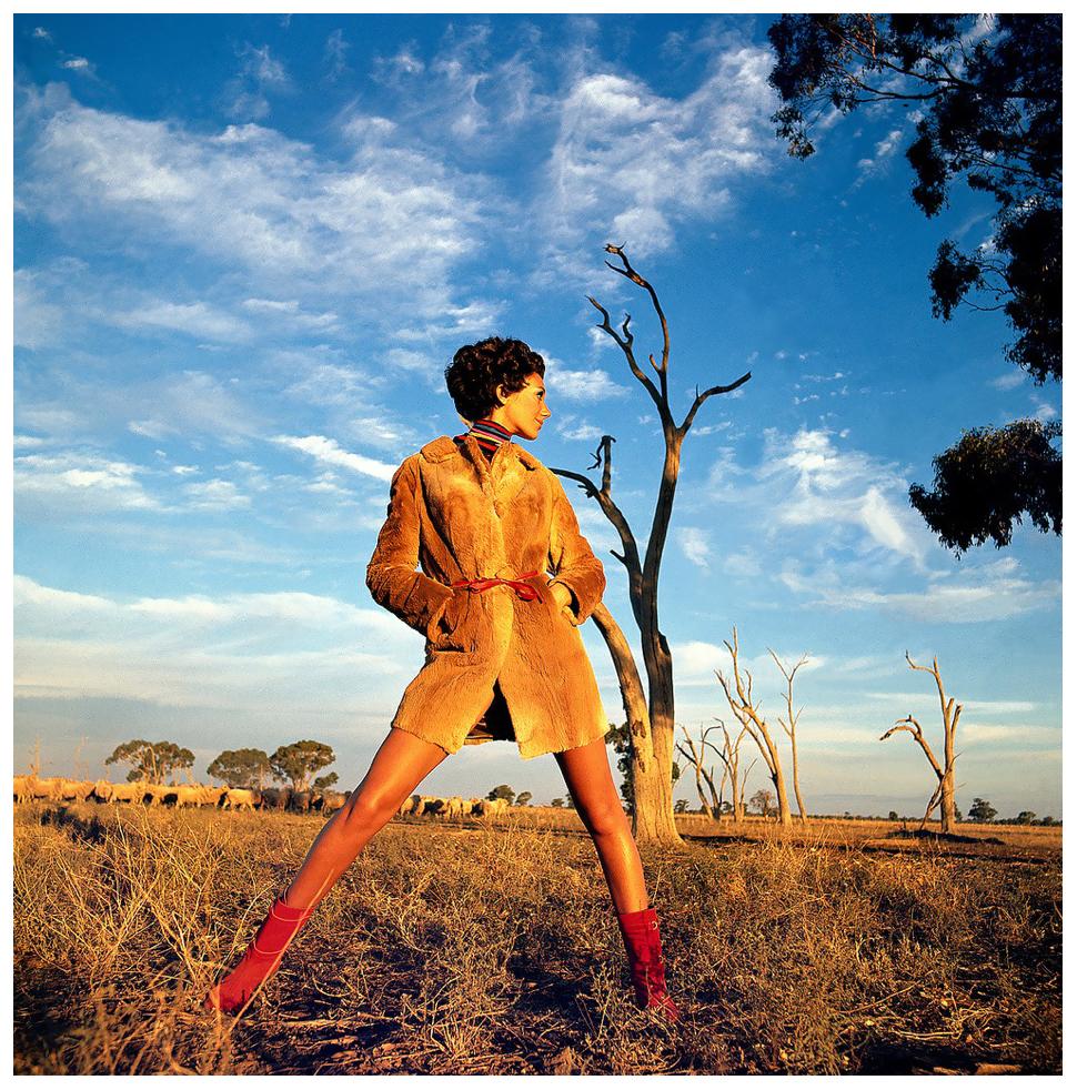 Marisa Berenson pictured in Australian Vogue in September 1967