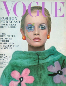 Twiggy on the cover of the July 1967 issue of Vogue