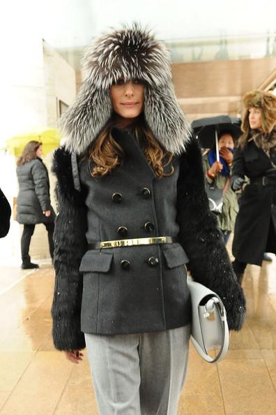 Olivia Palermo is an avid fur fashionista