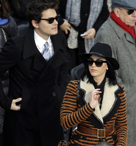 A touch of fur added major drama to Katy Perry's coat earlier this winter.