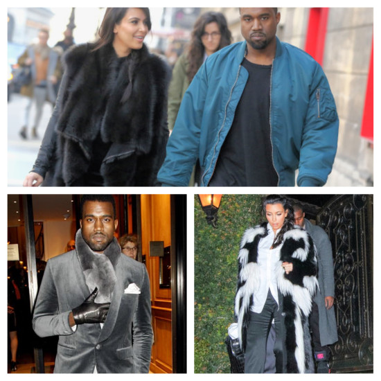 Young trend setting celebs like Kim Kardashian and Kanye West consistently sport chic fur looks Animal Rights Goes Wrong | Things That Make You Go Hmmm…
