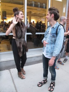 Carles and admirer (Photo by Pregnant Goldfish) Vintage Furs, Always A Must | HIPSTER VALUES