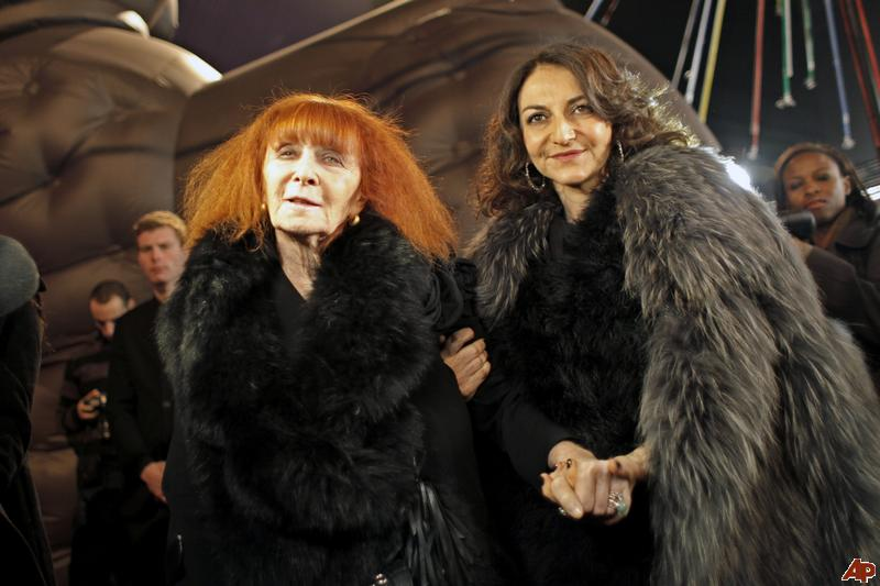 Sonia Rykiel with her daughter Nathalie