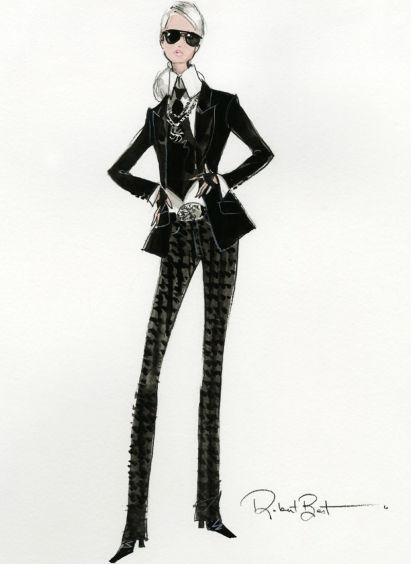 The Mattel special edition Barbie Lagerfeld