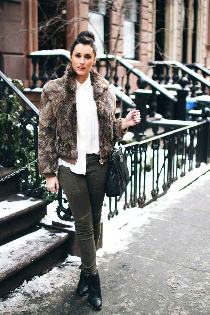 Vintage fur - cropped jacket/blouson