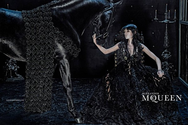 Edie Campbell fronts  Alexander McQueen Fall 2014-Winter 2015 Campaign photographed by Steven Klein