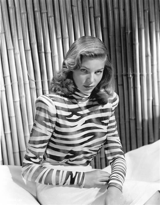 Lauren Bacall in a 1945 publicity photo (Getty Images)