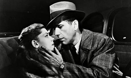 "Lauren Bacall and Humphrey Bogart as Marlowe in ""The Big Sleep"" 1946"