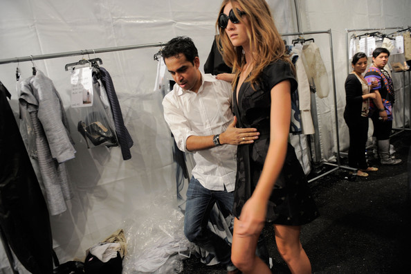 Bibhu Mohapatra behind the scenes during Spring-Summer 2011 presentation