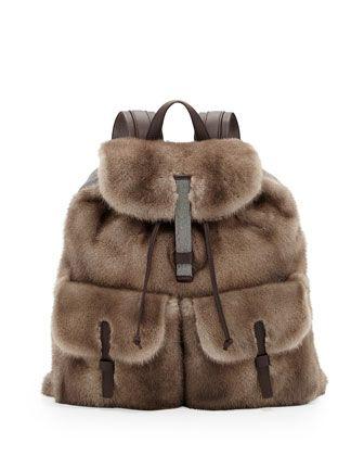 Brunello Cucinelli - Mink backpack ($ 7830)
