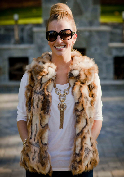 Vintage fur - sleeveless vest