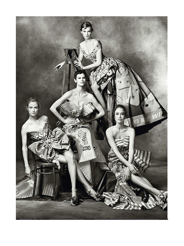 Carolyn Murphy, Saskia Debraw, Karen Elson and Rachel Zimmerman in Moschino - Fall 2014-Winter 2015 Campaign photographed by Steven Meisel