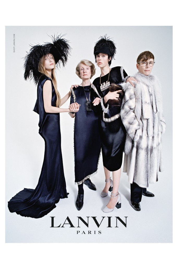 Edie Campbell and her Family front Lanvins Fall 2014-Winter 2015 Campaign