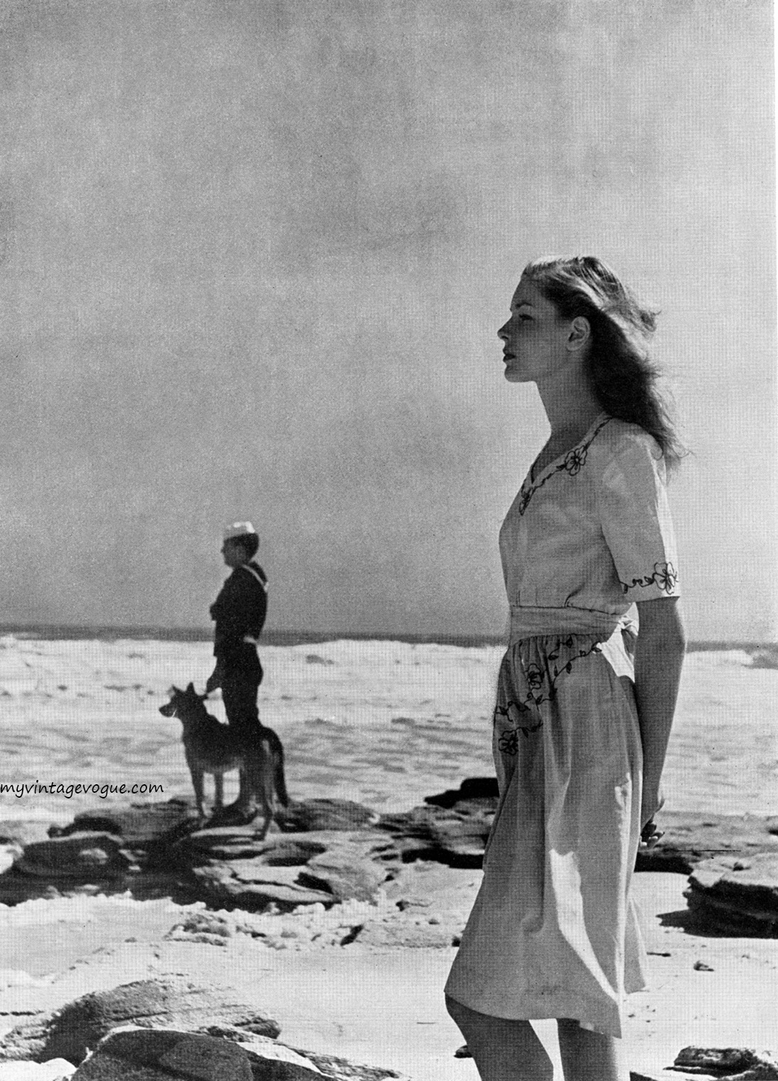 Lauren Bacall, Harper's Bazaar, May 1943. Photo by Louise Dahl-Wolfe.