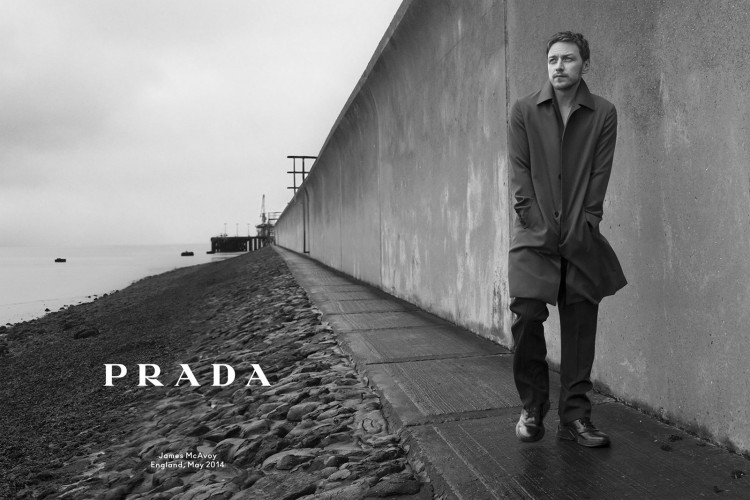 James McAvoy in PRADA Menswear Fall 2014-Winter 2015 Campaign photographed by Annie Leibovitz