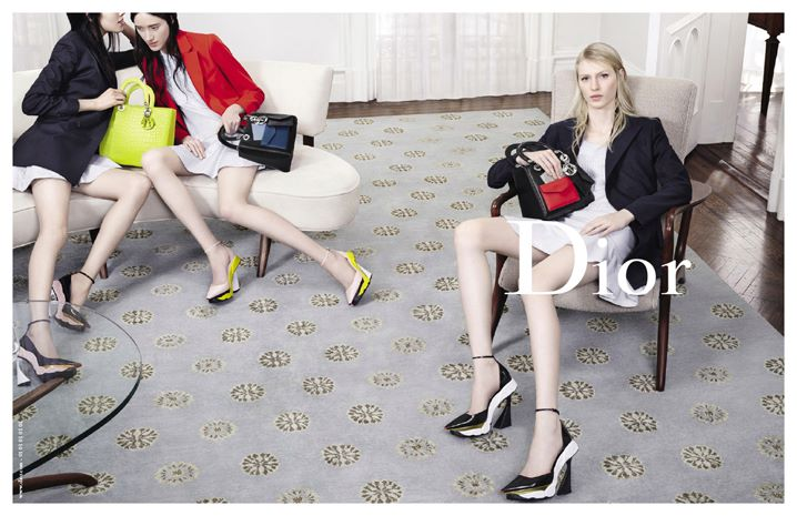 Julia Nobis, Feifei Sun, Helena Severin and Kasia Jujeczka for Dior - Fall 2014-Winter 2015 Campaign, photographed by Willy Vanderperre