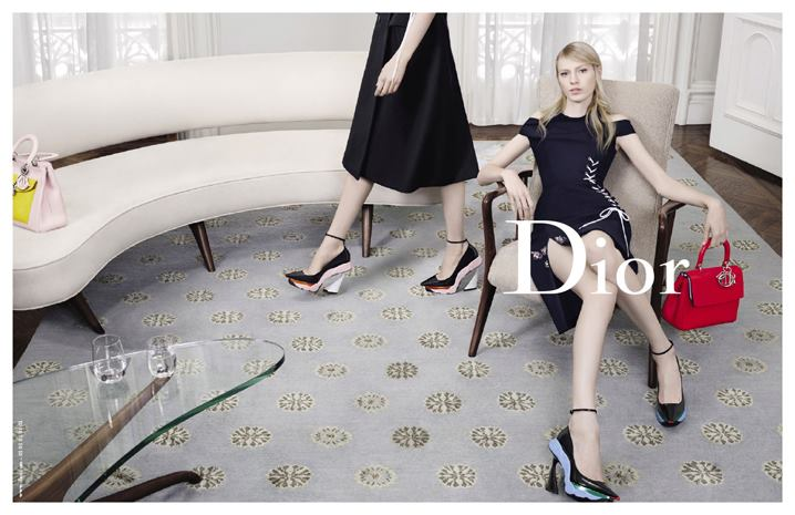 Julia Nobis for Dior - Fall 2014-Winter 2015 Campaign, photographed by Willy Vanderperre