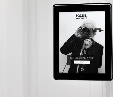 "Karl Lagerfeld's ""Let's take a Selfie in Fitting Rooms!"""