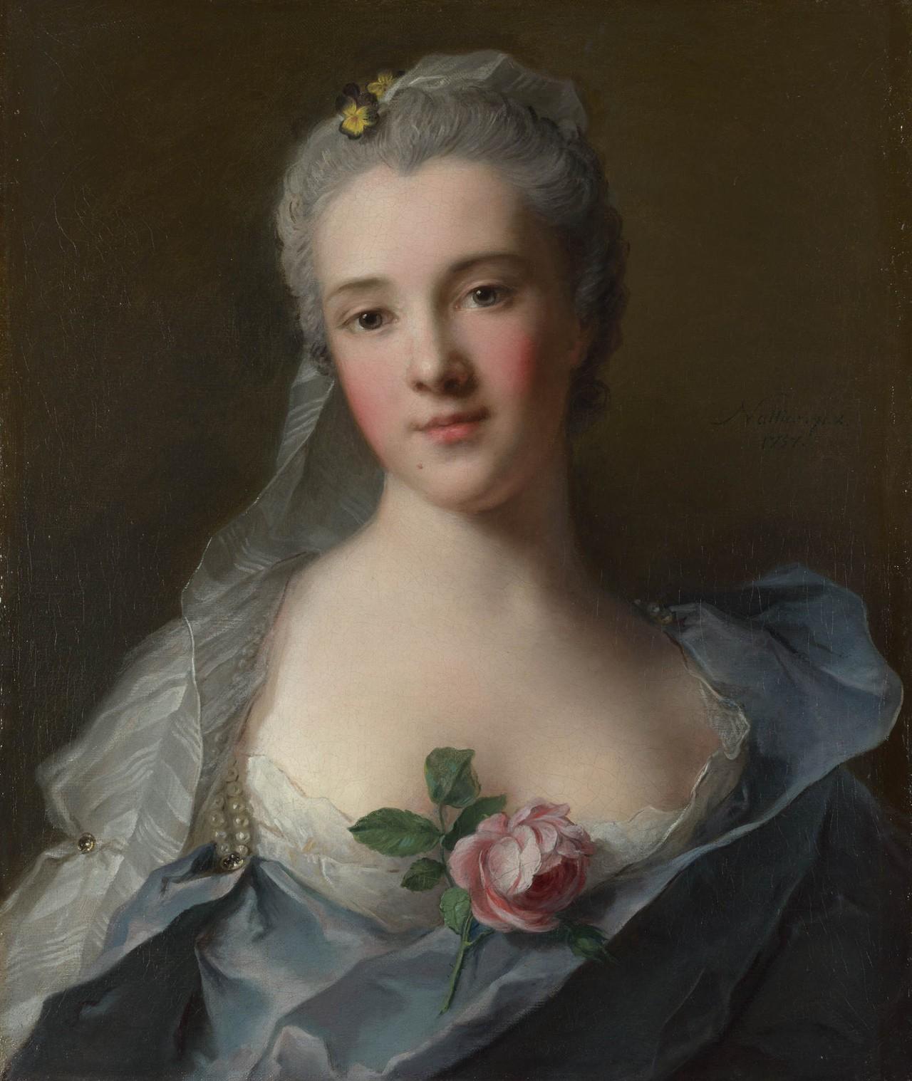 Portrait of Manon Balletti, by Jean-Marc Nattier, 1757. The National Gallery, London.