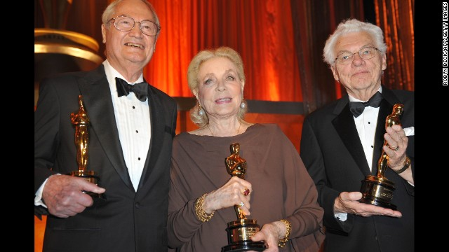 Roger Corman, Lauren Bacall and Roger Willis at the Academy of Motion Picture Arts and Sciences inaugural Governors Awards in 2009