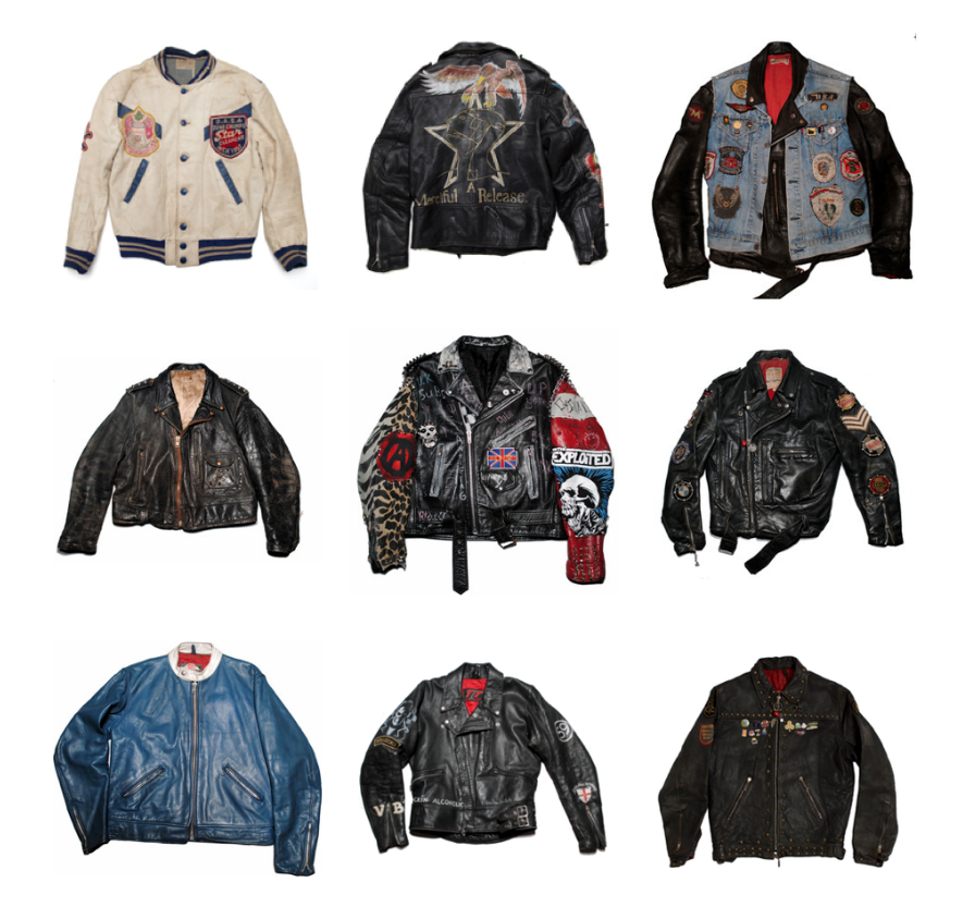 Selection of rare Vintage leather jackets from The Quality Mending Company (www.TheQualityMendingCo.com)
