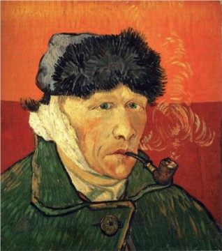 Vincent van Gogh (1853-1890), Self-portrait with bandaged ear, 1889.