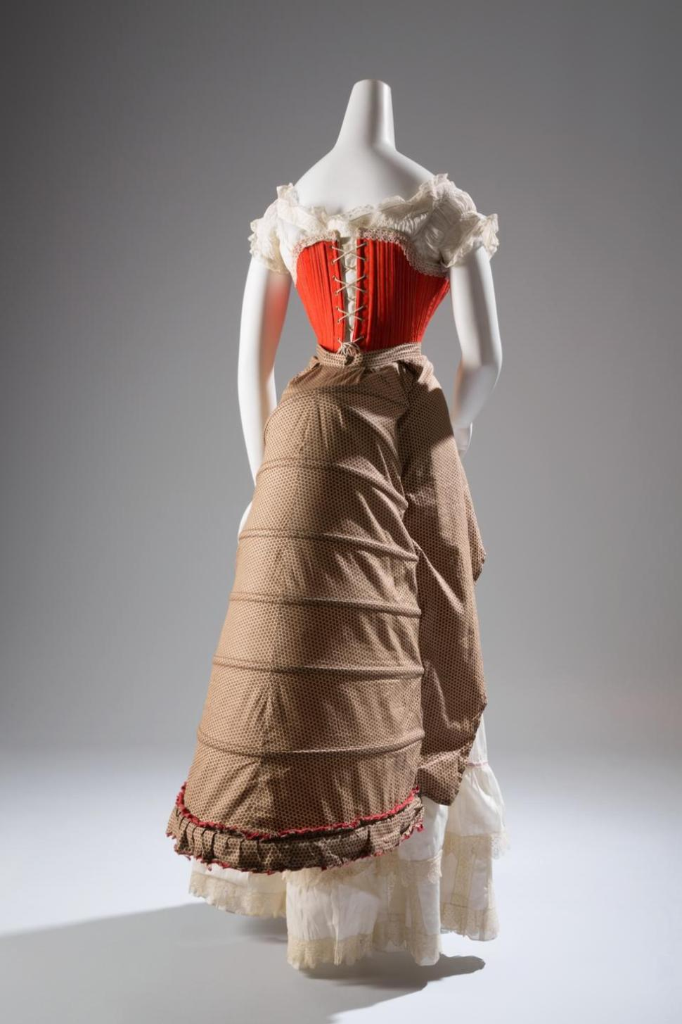 1880s, corset in wool, silk cotton and steel, France
