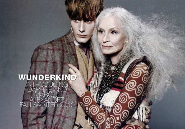 Daphne Selfe and Marco-Alexander fronting the Wunderkind campaign