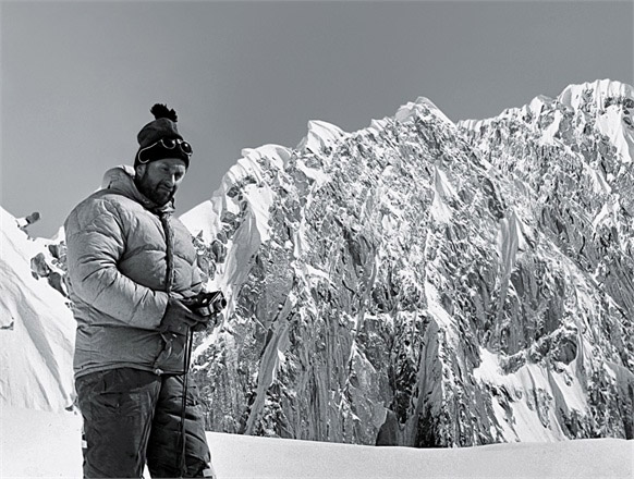 The first successful ascent to the summit of K2, July 1954 (the jacket is Moncler).
