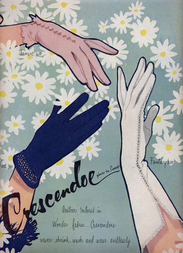 Vintage ads for women's gloves