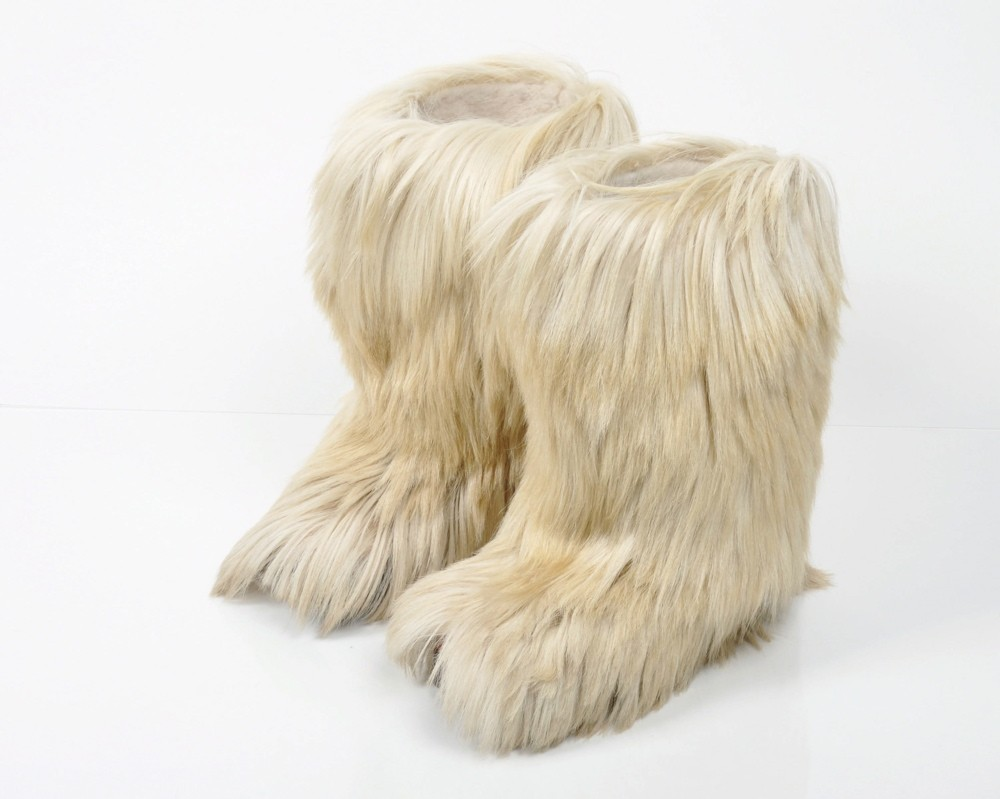 1970s goat fur boots by Blondo