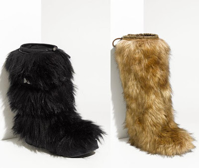 Fur snow boots by Prada