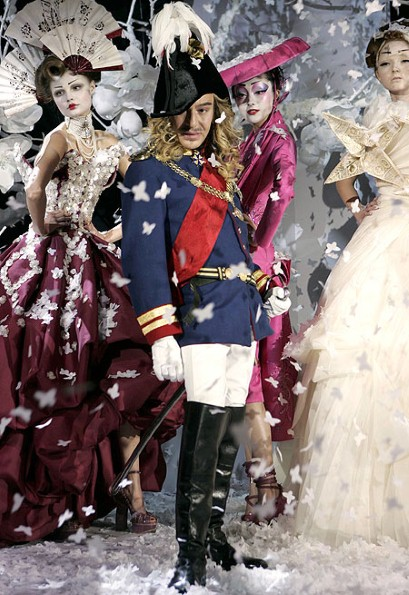 John Galliano at the Christian Dior Spring-Summer 2007 Haute Couture show