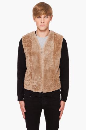 Reversible fur vest by Maison Martin Margiela
